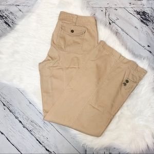 Express tan cargo wide leg pants